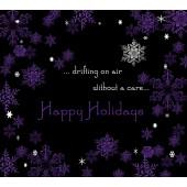 Custom Label - Purple Snowflakes - pack of 6