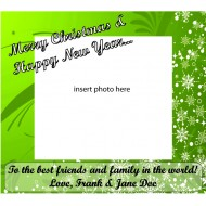 Custom Label - Green with Photo Insert - pack of 12